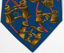 Bleu Jumelles Mila Schon Soie Cravate